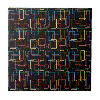 Retro Colorful Rectangle Digital Design Ceramic Tile