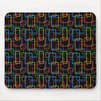 Retro Colorful Rectangle Digital Design Mousepad