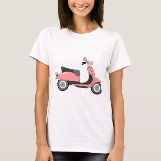 Retro Colorful Scooter Print T-Shirt