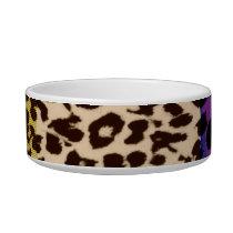 Retro colorful seamless animal print texture bowl