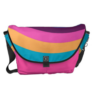Retro Colorful Stripe Modern Geometric Pattern 7 Messenger Bag