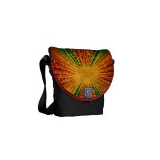 Retro Colorful Stripe Stars Explosion Messenger Ba Messenger Bag