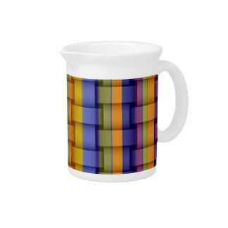 Retro colorful stripes art graphic design pitcher