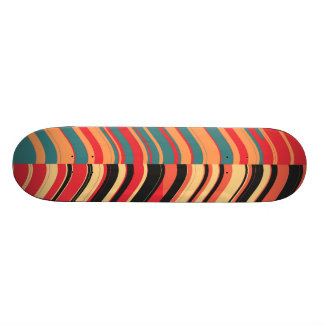 Retro Colorful Stripes Decorative Art Skateboard