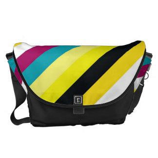 Retro Colorful Stripes Modern Geometric Pattern Courier Bag