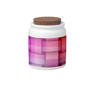 Retro colorful stripes painting graphic design 2 candy jars