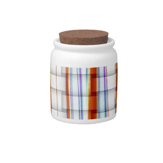 Retro colorful stripes painting graphic design candy jars