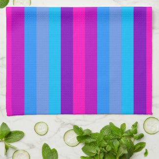Retro Colorful Stripes Pattern #11 Towels