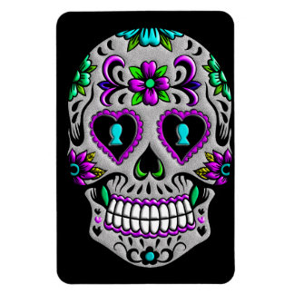 Retro Colorful Sugar Skull Magnet