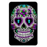 Retro Colorful Sugar Skull Magnets