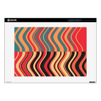 Retro Colorful Wave Stripes Decorative Art Decals For Laptops