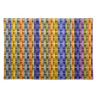 Retro colorful wicker graphic design cloth placemat