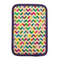Retro colorful zig zag pattern design iPad mini sleeve