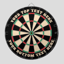 Retro Colors Classic Dartboard with Custom Text