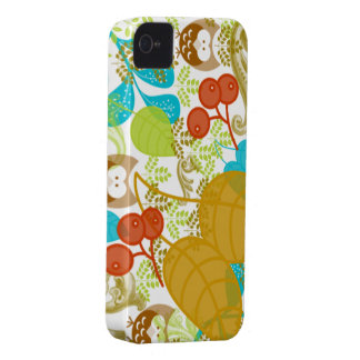 Retro Colors, Fruit & Owls iPhone 4 Cover
