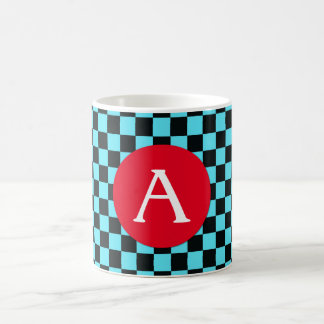 Retro Colors - Red and Aqua #1 Mug
