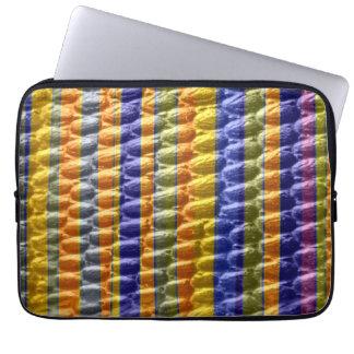 Retro colors stripes art graphic design laptop sleeve