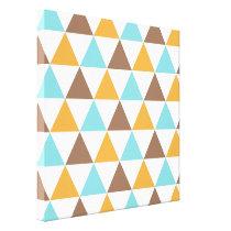 Retro Colour Triangle Pattern Canvas Print