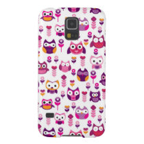 retro colourful owl bird pattern galaxy s5 case
