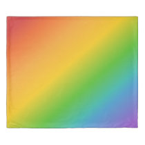 Retro Colours of the Rainbow King Duvet Cover