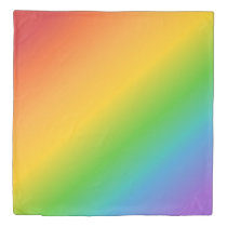 Retro Colours of the Rainbow Queen Duvet Cover