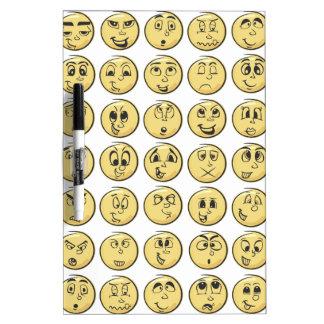 Retro Comic Book Emoji Pattern Dry Erase Board
