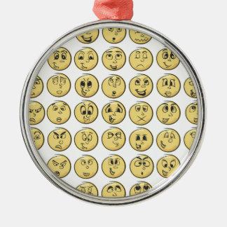 Retro Comic Book Emoji Pattern Ornaments