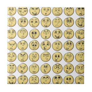 Retro Comic Book Emoji Pattern Tiles