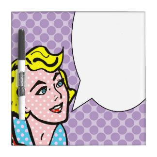 Retro Comic Book Speech Bubble Dry Erase Board