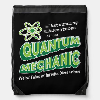 Retro Comic Book Style Geek Quantum Mechanics Drawstring Bag