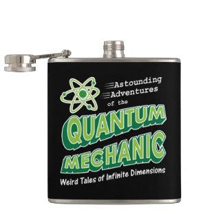 Retro Comic Book Style Geek Quantum Mechanics Hip Flask