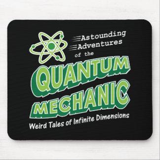 Retro Comic Book Style Geek Quantum Mechanics Mouse Pad