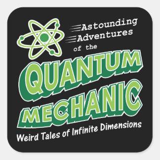 Retro Comic Book Style Geek Quantum Mechanics Square Sticker