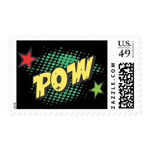 Retro Comic Book Super Hero Pow Postage