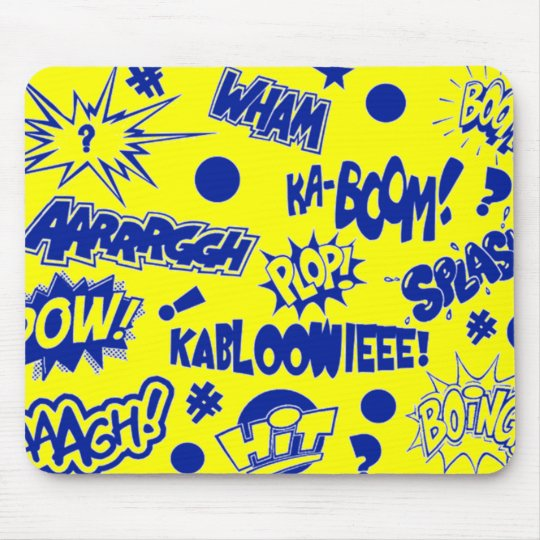 Retro Comic Call-Outs Mouse Pad