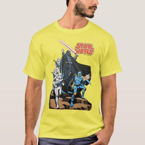 Retro Comic Darth Vader Star Wars Illustration T_Shirt