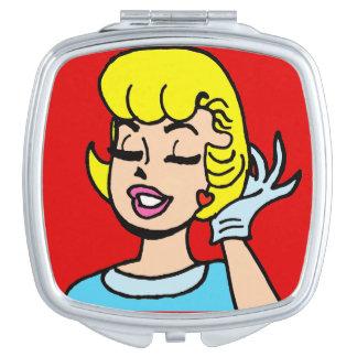 Retro Comic Strip Beauty Compact Mirror
