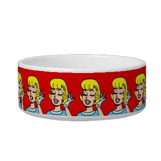 Retro Comic Strip Beauty Dog Bowl