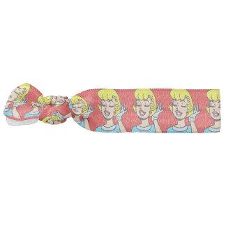 Retro Comic Strip Beauty Hair Tie