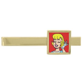 Retro Comic Strip Beauty Tie Bar