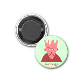 """Retro Comic Toon """"Not Happy"""" Guy Magnets"""