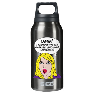RETRO COMICS INSULATED WATER BOTTLE