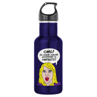 RETRO COMICS 18OZ WATER BOTTLE