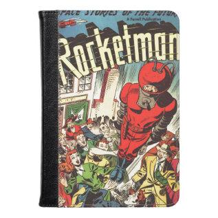 Retro Comics - Rocketman Kindle Case at Zazzle