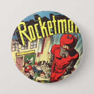 Retro comics - Rocketman Pinback Button