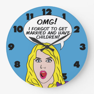 RETRO COMICS wall clock
