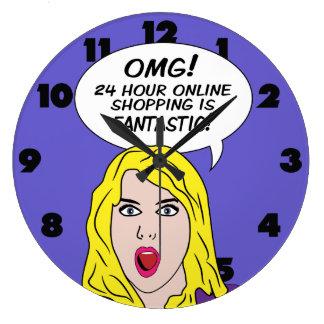 RETRO COMICS wall clock