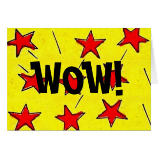 "Retro Comix Stars ""WOW!"" Card"