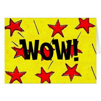 "Retro Comix Stars ""WOW!"" Card"