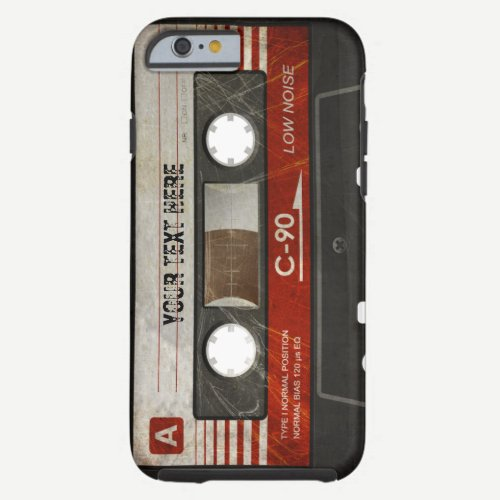 Retro Compact Audio Cassette | DJ Best Gifts Tough iPhone 6 Case